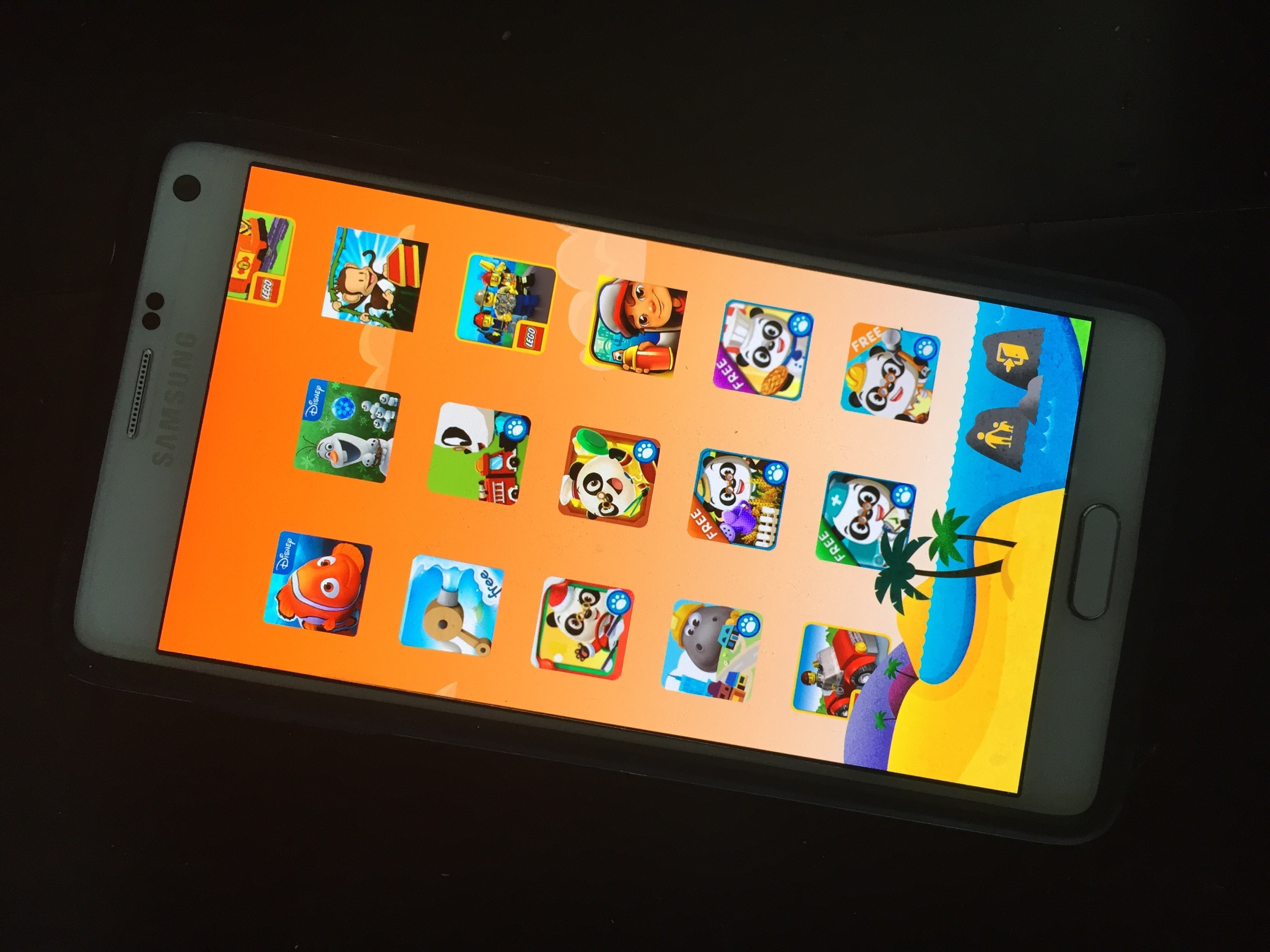 Android Kids Games for Galaxy Note 4